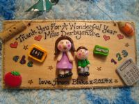 2 character 3d  Teacher's Classroom Personalised  Unique Sign Plaque Gift Handmade